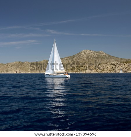 sailing yachts - stock photo