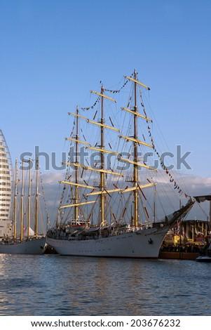Sailor in Bremerhaven, Germany - stock photo
