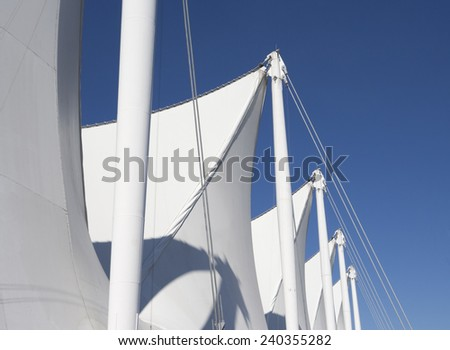 Sails on Canada Place - Vancouver, British Columbia, Canada - stock photo