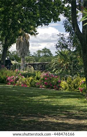 Saint Adrien garden. South of France - stock photo