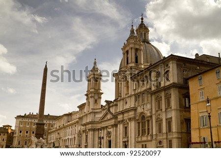 Saint Agnes Church in Piazza Navona. Rome, Italy.