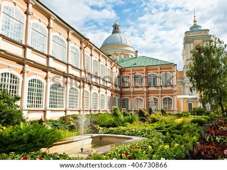 Saint Alexander Nevsky Lavra in Saint Petersburg, Russia - stock photo