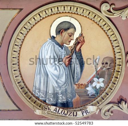 Saint Aloysius - stock photo
