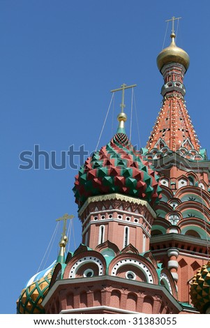 Saint Basil cathedral at Red Square, Moscow, Russia