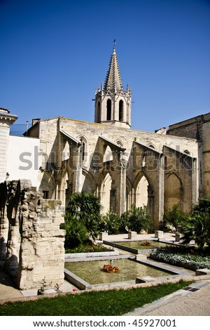 Saint Didier church in Avignon, Provence, France - stock photo