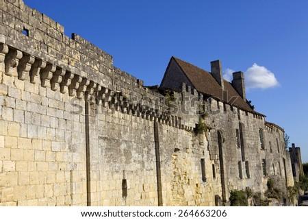 saint emilion architecture, in aquitaine, france - stock photo