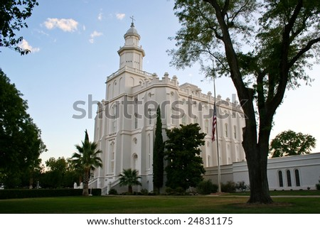Saint George LDS Temple - stock photo