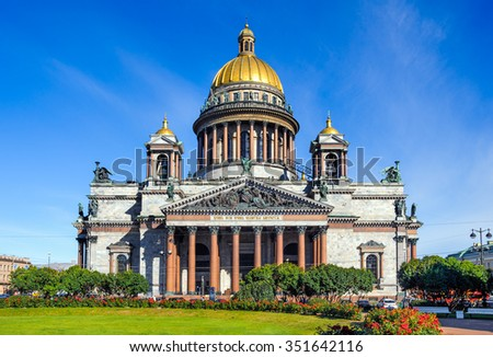Saint Isaac Cathedral, St Petersburg, Russia - stock photo