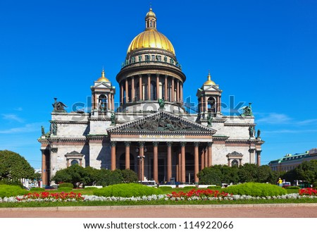 Saint Isaac's Cathedral in St. Petersburg. Russia - stock photo