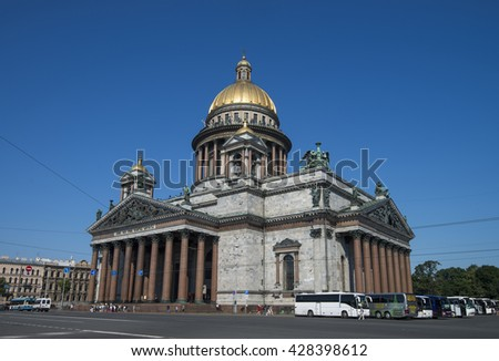 Saint Isaac's Cathedral. St. Petersburg. Russia, July 9, 2014