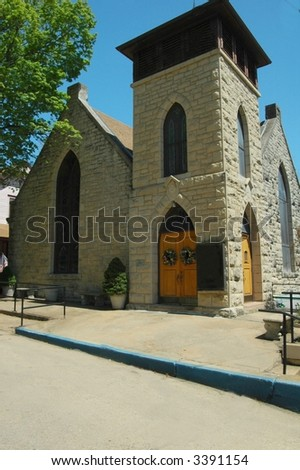 Saint James Church-Eureka Springs,Arkansas - stock photo