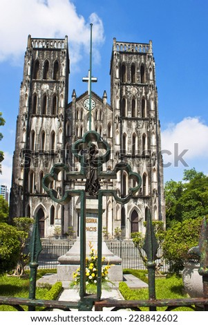 Saint Joseph Cathedral, Hanoi, Vietnam - stock photo