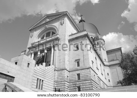 Saint Joseph's Oratory of Mount Royal, (French: Oratoire Saint-Joseph du Mont-Royal), is a Roman Catholic basilica on the west slope of Mount Royal in Montreal, Quebec, Canada. - stock photo