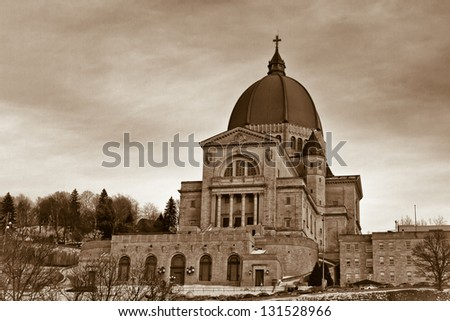 Saint Joseph's Oratory of Mount Royal is the largest church in Canada. - stock photo