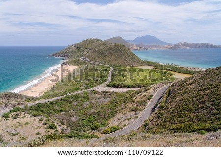 Saint Kitts Panorama - stock photo