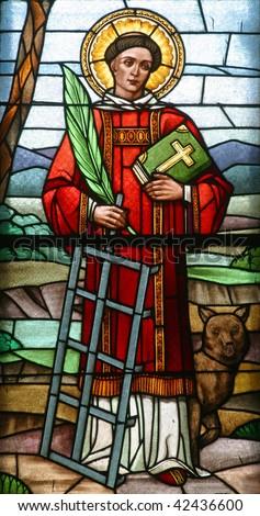 Saint Lawrence of Rome - stock photo