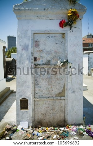 Saint Louis Cemetery No. 1 in New Orleans, Louisiana - stock photo