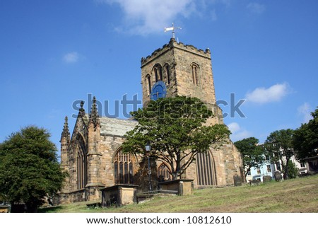 Saint Marys church and graveyard, Scarborough, north yorkshire, England