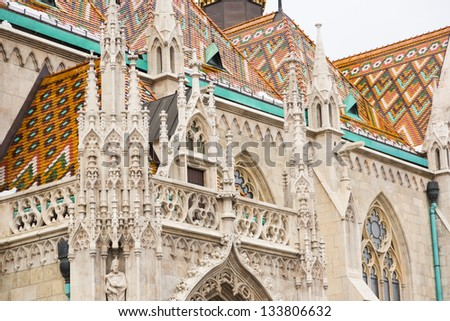 Saint Matthias Church in Budapest - stock photo