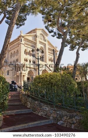 Saint-Nicholas Cathedral in Monaco - stock photo