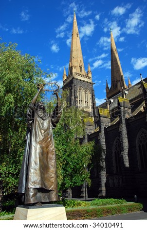 Saint Patrick's Catholic Cathedral, Melbourne, Victoria, Australia - stock photo