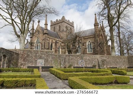 saint patricks church in armagh city - stock photo