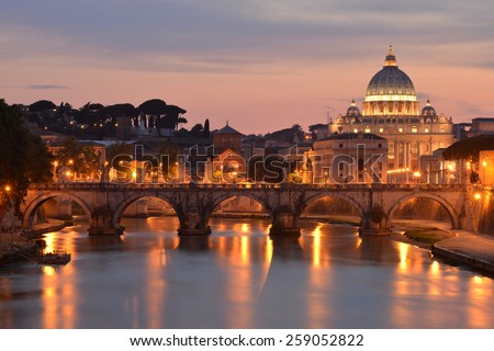Saint Peter Cathedral, Rome - stock photo