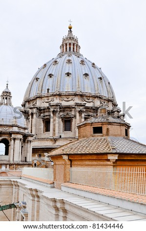 Saint Peter's dome in Vatican, Rome, Italy