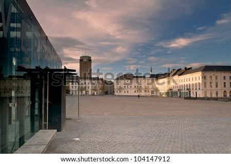 Saint-Peter's Square Ghent - stock photo