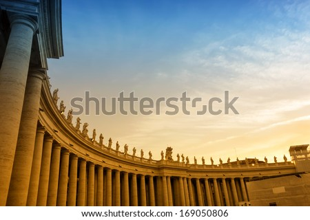 Saint Peter's Square in Vatican,Italy  - stock photo