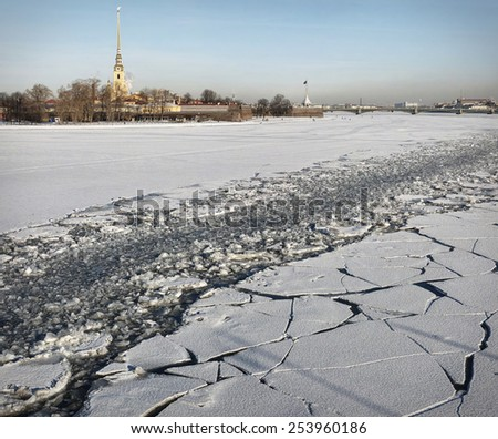 Saint-Petersburg, February 2015 - stock photo