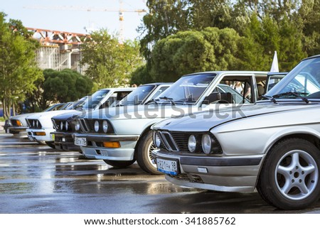 SAINT-PETERSBURG, RUSSIA - AUGUST 3, 2013: Old-car BMW 6-series 630, at the meeting, fans of the Bavarian automaker, Krestovsky island, St. Petersburg - stock photo