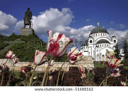 Saint Sava temple in Belgrade, Serbia - stock photo