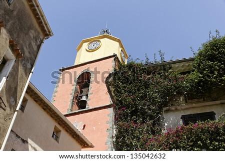 Saint Tropez, parish church, Eglise paroissiale Notre-Dame-de-l'Assomption, Cote d'Azur,  French Riviera, Southern France - stock photo