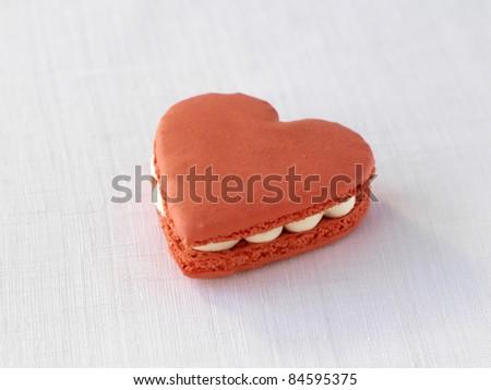 Saint-Valentin macaroon - stock photo