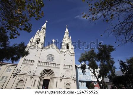 Saints Peter and Paul Church, San Francisco - stock photo