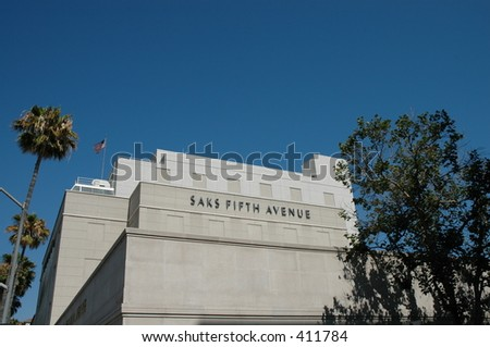 Saks Fifth Avenue, Beverly Hills - stock photo
