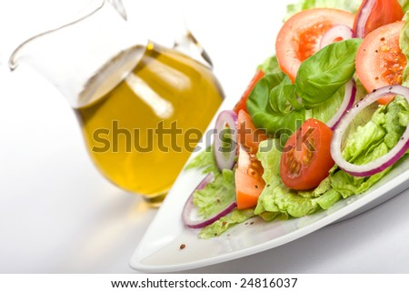 salad and oil