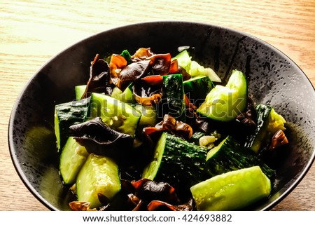 salad-Cucumber mixed with black fungus