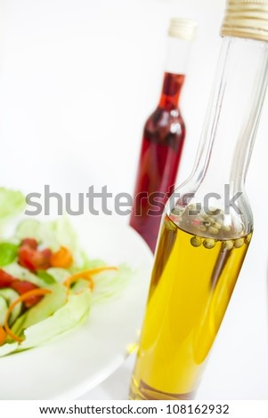 salad dressings - stock photo