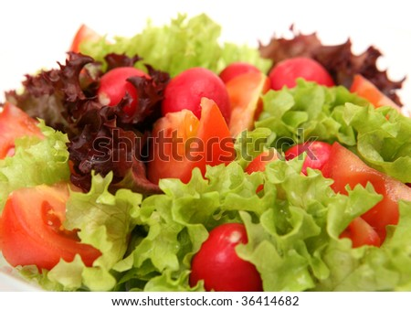 Salad from fresh vegetables