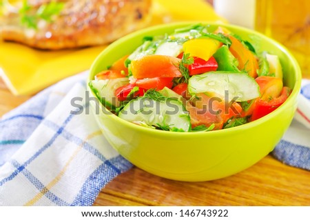 salad from vegetables