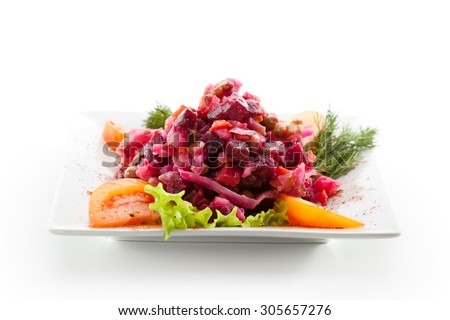 Salad of Beetroot and Vegetables - stock photo