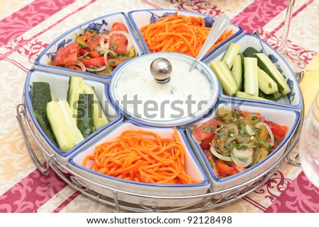 Salad of vegetable. - stock photo