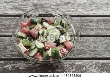 salad on table - stock photo