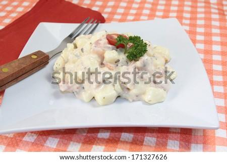 salad, potatoes - stock photo