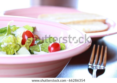 Salad with grape tomatoes