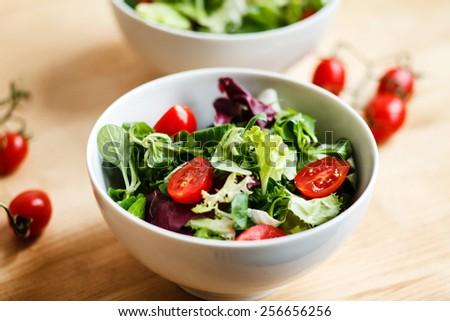 salad with tomato - stock photo