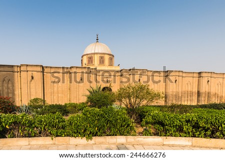Saladin Citadel of Cairo, a medieval Islamic fortification in Cairo, Egypt. Citadel was fortified by the Ayyubid ruler Salah al-Din (Saladin)
