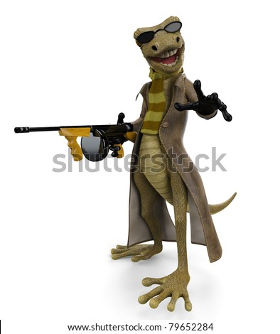 salamander the gangster - stock photo